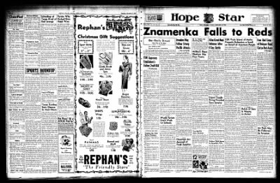 Hope Star from Hope, Arkansas on December 10, 1943 · Page 1