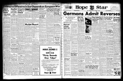 Hope Star from Hope, Arkansas on December 13, 1943 · Page 1