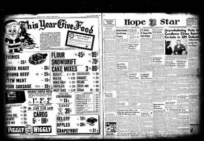 Hope Star from Hope, Arkansas on December 10, 1954 · Page 1