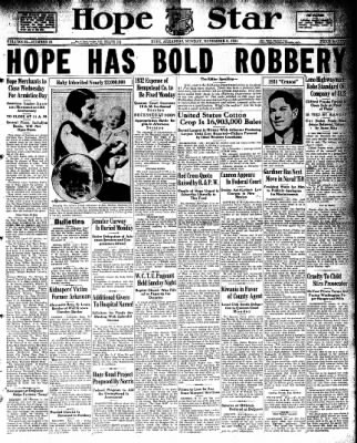 Hope Star from Hope, Arkansas on November 9, 1931 · Page 1