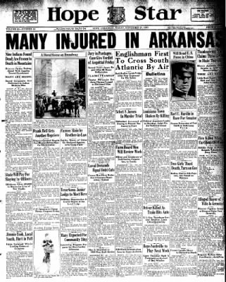 Hope Star from Hope, Arkansas on November 27, 1931 · Page 1
