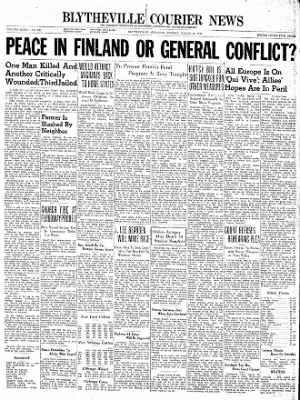 The Courier News from Blytheville, Arkansas on March 11, 1940 · Page 1