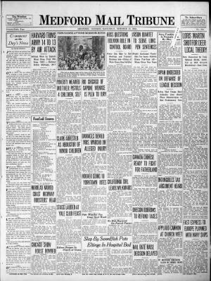 Medford Mail Tribune from Medford, Oregon on October 17, 1931 · Page 1