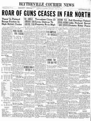 The Courier News from Blytheville, Arkansas on March 13, 1940 · Page 1