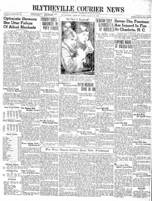 The Courier News from Blytheville, Arkansas on March 15, 1940 · Page 1