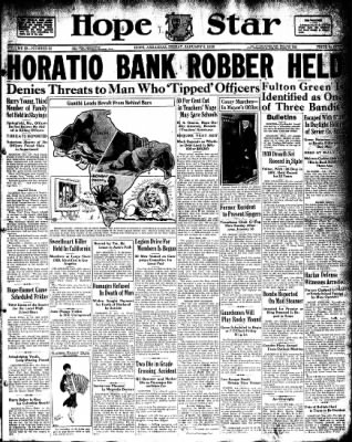 Hope Star from Hope, Arkansas on January 8, 1932 · Page 1