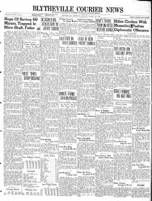 The Courier News from Blytheville, Arkansas on March 18, 1940 · Page 1
