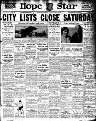 Hope Star from Hope, Arkansas on January 23, 1932 · Page 1