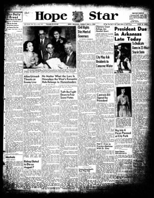Hope Star from Hope, Arkansas on July 1, 1952 · Page 1