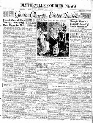 The Courier News from Blytheville, Arkansas on March 23, 1940 · Page 1
