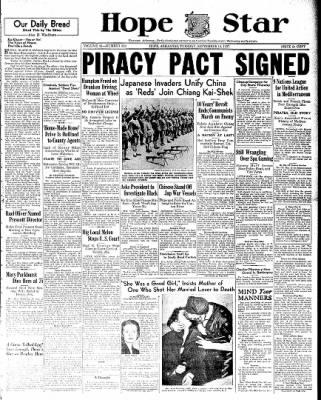 Hope Star from Hope, Arkansas on September 14, 1937 · Page 1