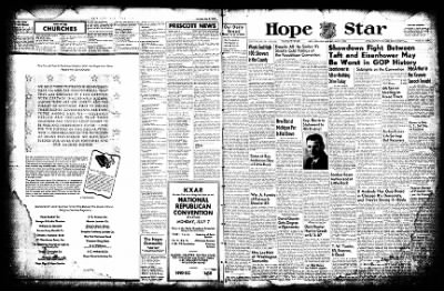 Hope Star from Hope, Arkansas on July 7, 1952 · Page 1
