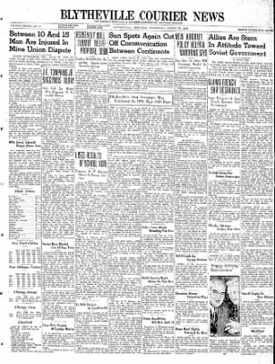 The Courier News from Blytheville, Arkansas on March 27, 1940 · Page 1