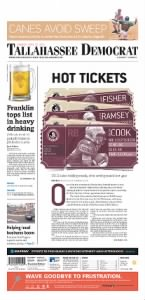 Sample Tallahassee Democrat front page