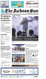 Sample The Jackson Sun front page