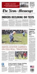 Sample The News-Messenger front page