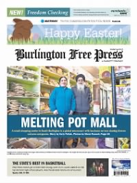 Sample The Burlington Free Press front page