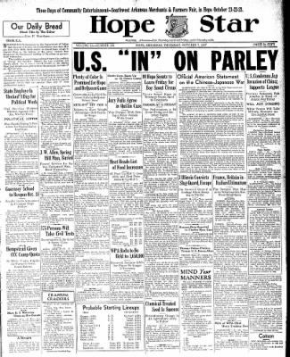 Hope Star from Hope, Arkansas on October 7, 1937 · Page 1