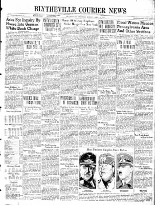 The Courier News from Blytheville, Arkansas on April 1, 1940 · Page 1