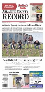 Sample Atlantic County Record front page