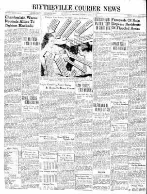 The Courier News from Blytheville, Arkansas on April 2, 1940 · Page 1
