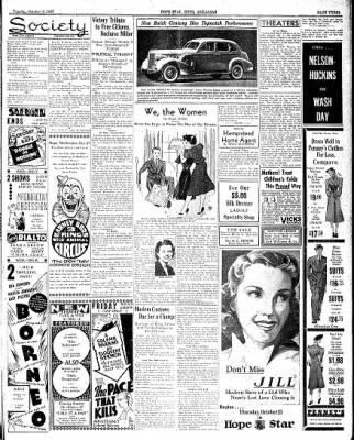 Hope Star from Hope, Arkansas on October 19, 1937 · Page 3