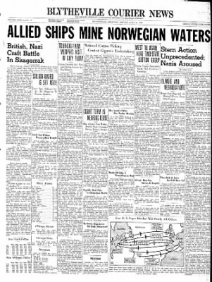 The Courier News from Blytheville, Arkansas on April 8, 1940 · Page 1