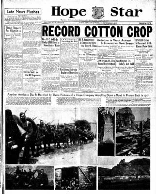 Hope Star from Hope, Arkansas on November 8, 1937 · Page 1