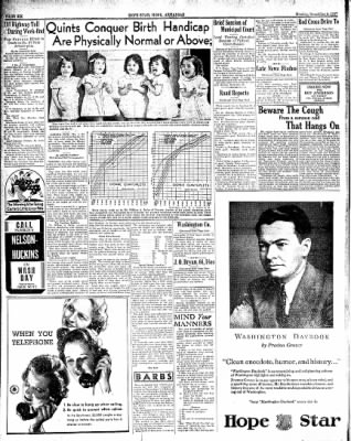 Hope Star from Hope, Arkansas on November 8, 1937 · Page 6