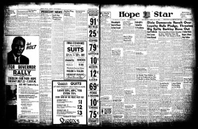 Hope Star from Hope, Arkansas on July 22, 1952 · Page 1