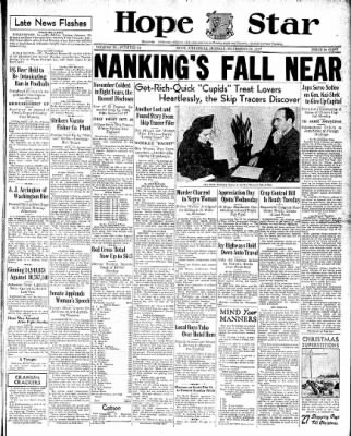 Hope Star from Hope, Arkansas on November 22, 1937 · Page 1