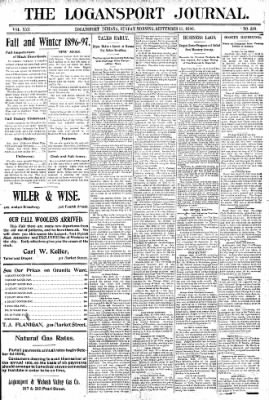 Logansport Pharos-Tribune from Logansport, Indiana on September 13, 1896 · Page 1