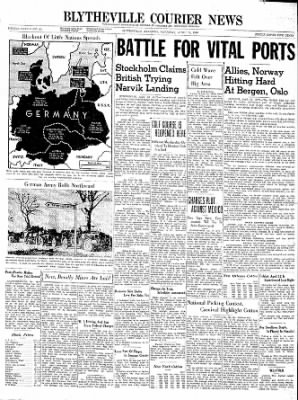 The Courier News from Blytheville, Arkansas on April 13, 1940 · Page 1