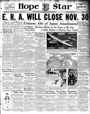 Hope Star from Hope, Arkansas on November 13, 1935 · Page 1