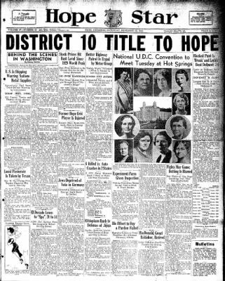Hope Star from Hope, Arkansas on November 16, 1935 · Page 1