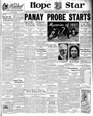 Hope Star from Hope, Arkansas on December 18, 1937 · Page 1