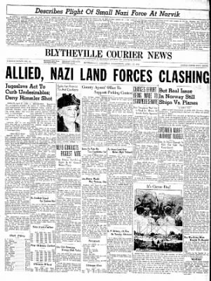 The Courier News from Blytheville, Arkansas on April 17, 1940 · Page 1