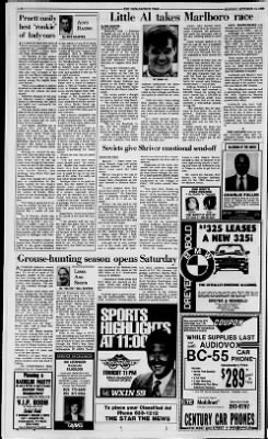 The Indianapolis Star from Indianapolis, Indiana on October 15, 1989 · Page 68