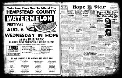 Hope Star from Hope, Arkansas on August 6, 1952 · Page 1