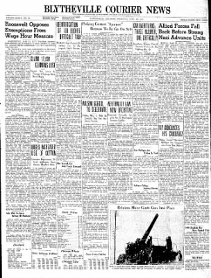 The Courier News from Blytheville, Arkansas on April 25, 1940 · Page 1