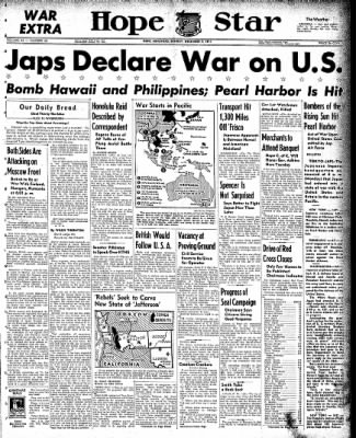 Hope Star from Hope, Arkansas on December 7, 1941 · Page 1