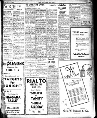 Hope Star from Hope, Arkansas on December 24, 1941 · Page 3