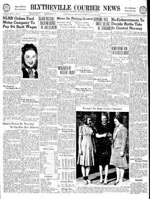The Courier News from Blytheville, Arkansas on April 30, 1940 · Page 1