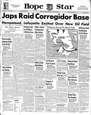 Hope Star from Hope, Arkansas on January 3, 1942 · Page 1
