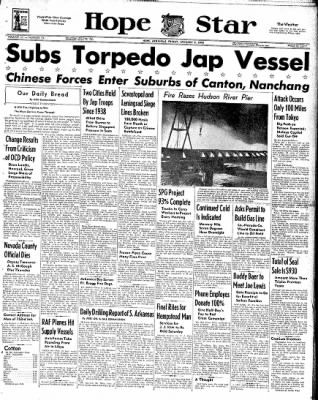 Hope Star from Hope, Arkansas on January 9, 1942 · Page 1