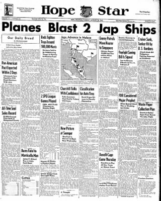 Hope Star from Hope, Arkansas on January 20, 1942 · Page 1