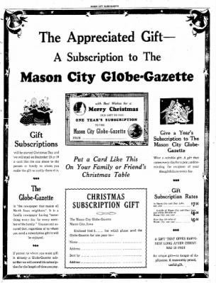 Globe-Gazette from Mason City, Iowa on December 17, 1936 · Page 69