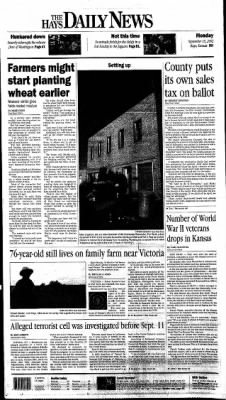 The Hays Daily News from Hays, Kansas on September 16, 2002 · Page 1