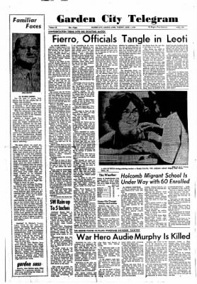 Garden City Telegram from Garden City, Kansas on June 1, 1971 · Page 1
