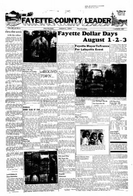 Fayette County Leader from Fayette, Iowa on August 1, 1957 · Page 1